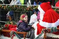 Little girl with Santa 2